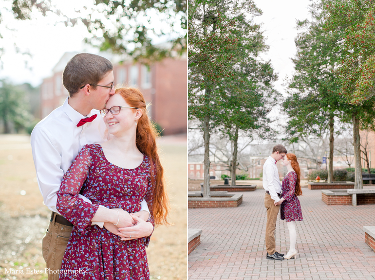 Wake Forest Winter Engagement Photography